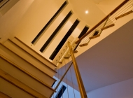 Stairwell at Akasha St Lucia\'s Best Holiday Villa Rental as Seen From Great Room