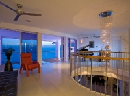 View From Exit of Blue Bedroom at St Lucia\'s Best Holiday Villa Rental To Feature Light, Yamaha Piano and Terrace