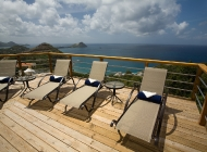 Champagne at St Lucia\'s Best Holiday Villa Rental on the Sun Deck