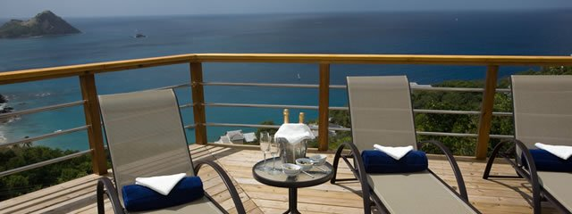 St Lucia Villa Rental, Caribbean Villa Rental - Concierge Services Champagne on the sun deck by the infinity pool