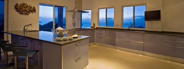 Akasha St Lucia Luxury Holiday Villa Rental, Caribbean Villa Rental, Italian Kitchen