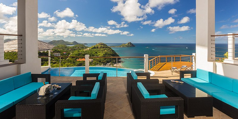 Endless views at Akasha St Lucia VIlla